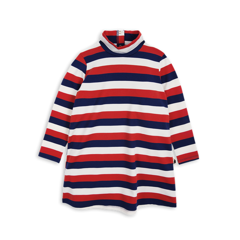 Mini Rodini Block Stripe Dress | Size 5-7Y Last One