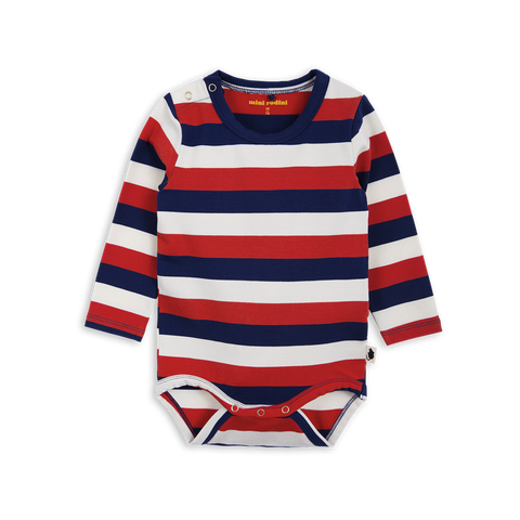 Mini Rodini Block Stripe LS Bodysuit