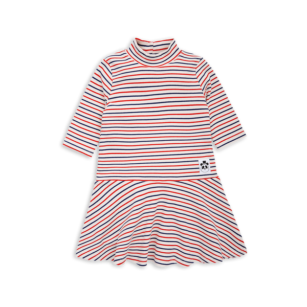 Mini Rodini Stripe Rib Organic Dance Dress