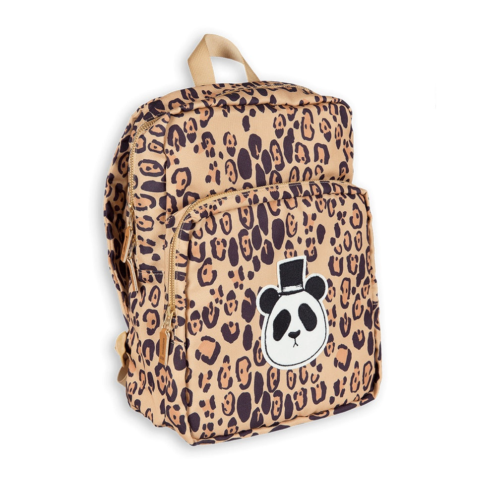 Mini Rodini Leopard Panda Backpack Afterpay