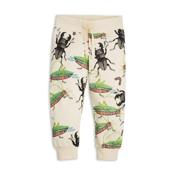 Mini Rodini Insects Beige Organic Sweatpants | Size 1-4M Last One Afterpay