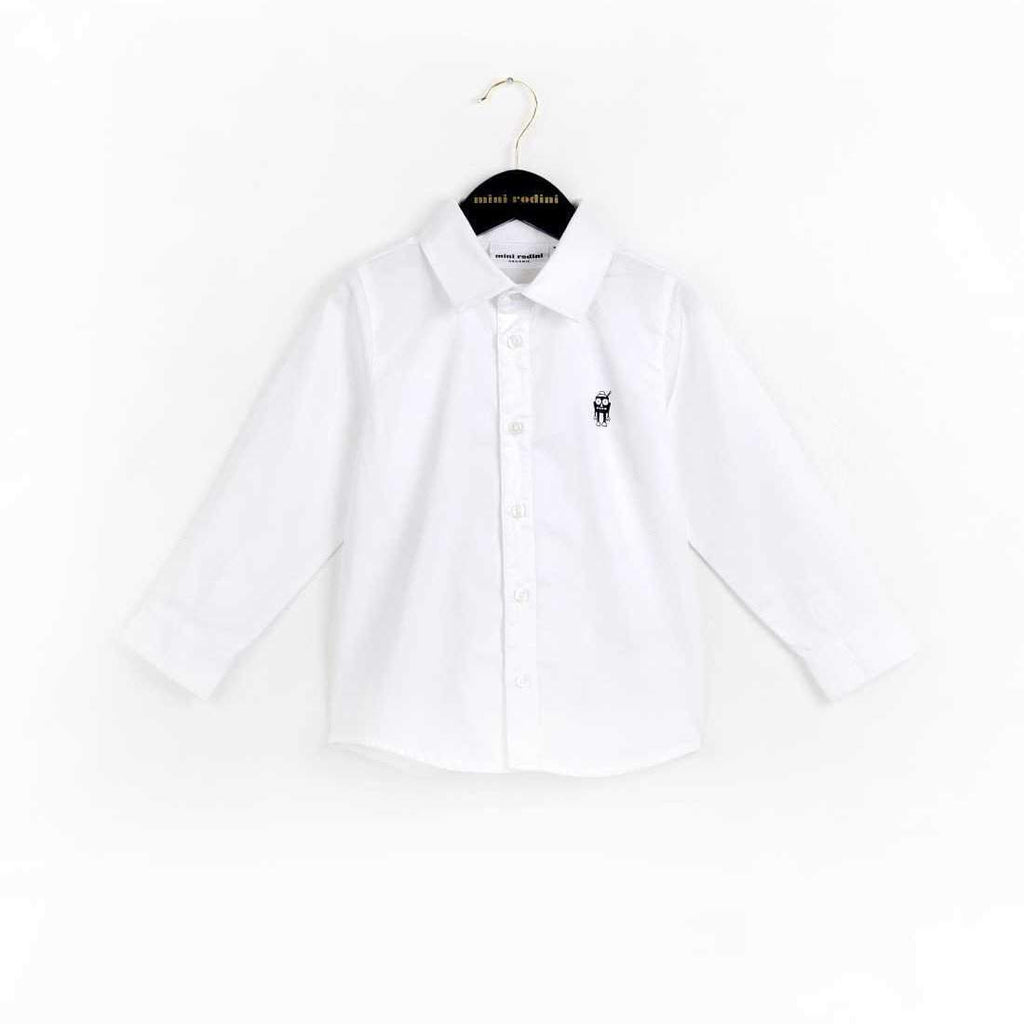 Mini Rodini Classic White Organic Shirt Afterpay