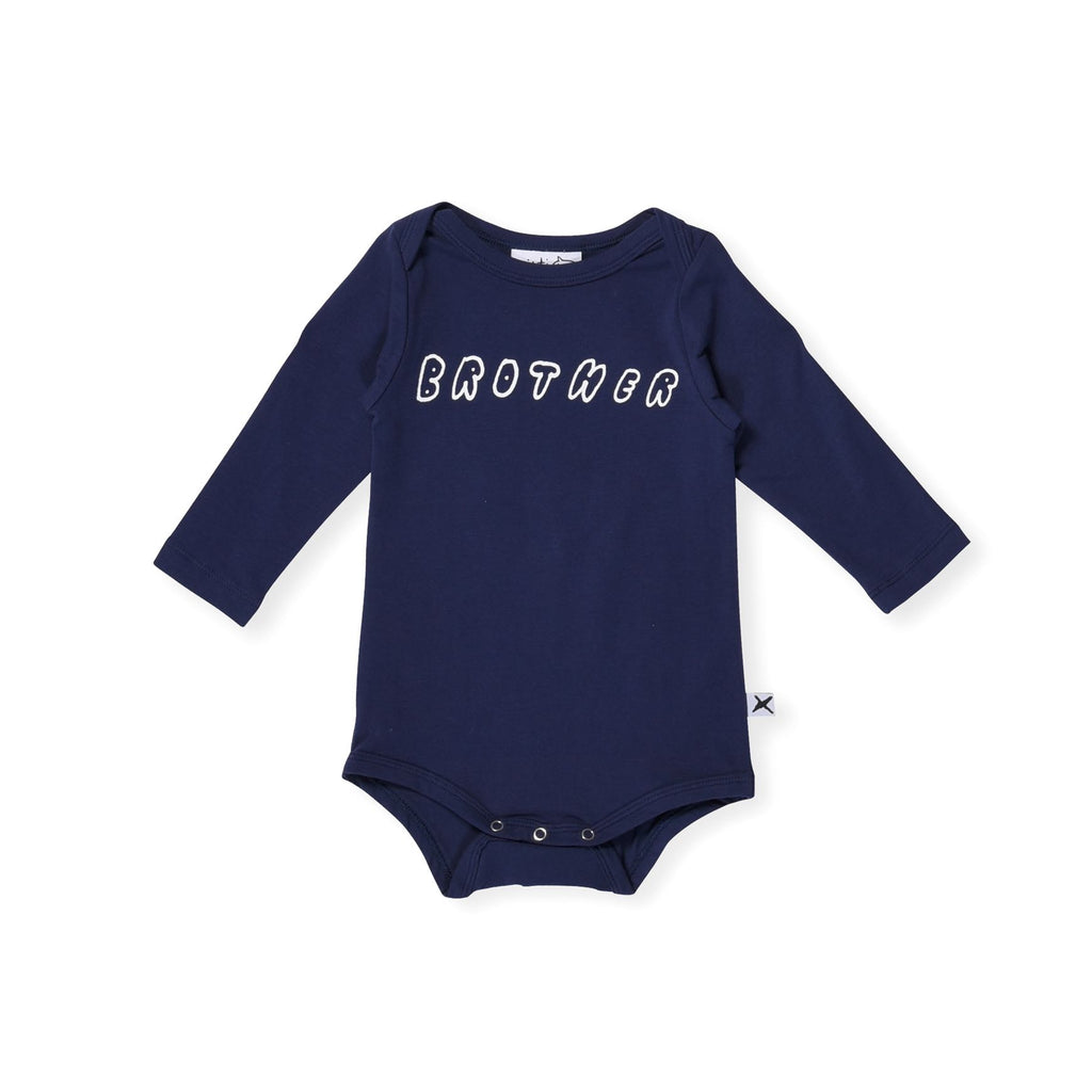 Minti Baby Brother LS Onesie | Size 3-6M Last One