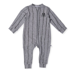 Minti Baby Ziggy Stripe Jumpsuit Grey