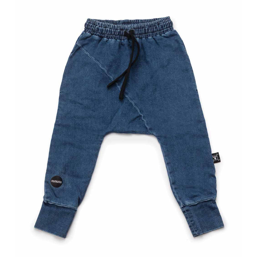 NUNUNU Kids Denim Diagonal Baggy Pants
