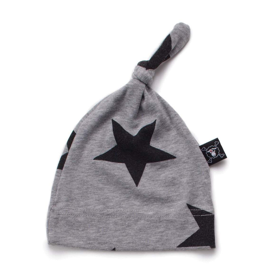 NUNUNU Grey Star Baby Beanie Afterpay