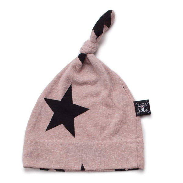NUNUNU Powder Pink Star Baby Beanie Afterpay