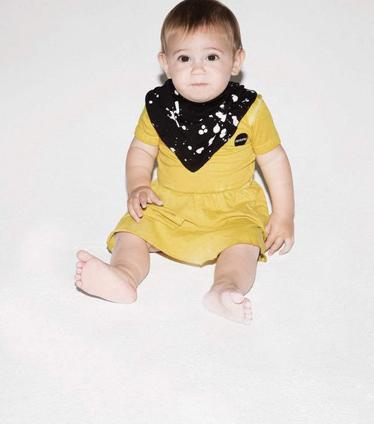 NUNUNU Black Splash Baby Bib Afterpay