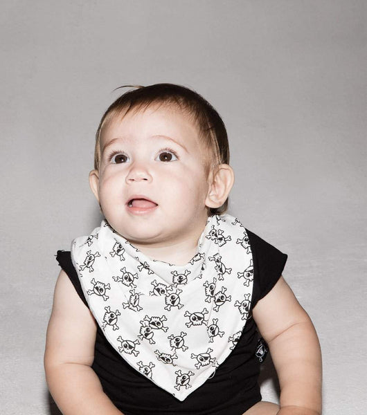 NUNUNU White Splash Baby Bib Afterpay