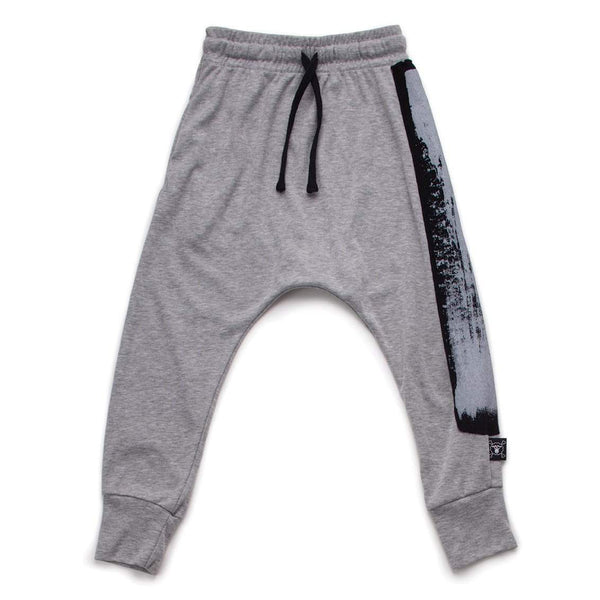 NUNUNU Grey Brush Stroke Baggy Pants Afterpay