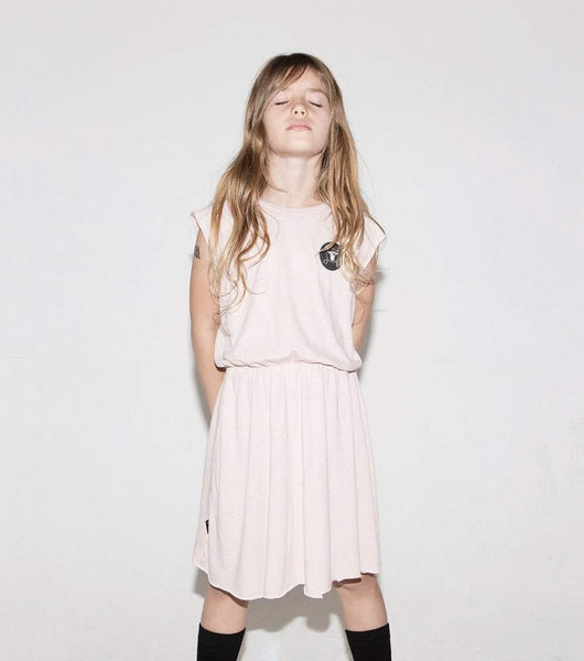 NUNUNU Powder Pink Sleeveless Soft Dress Afterpay