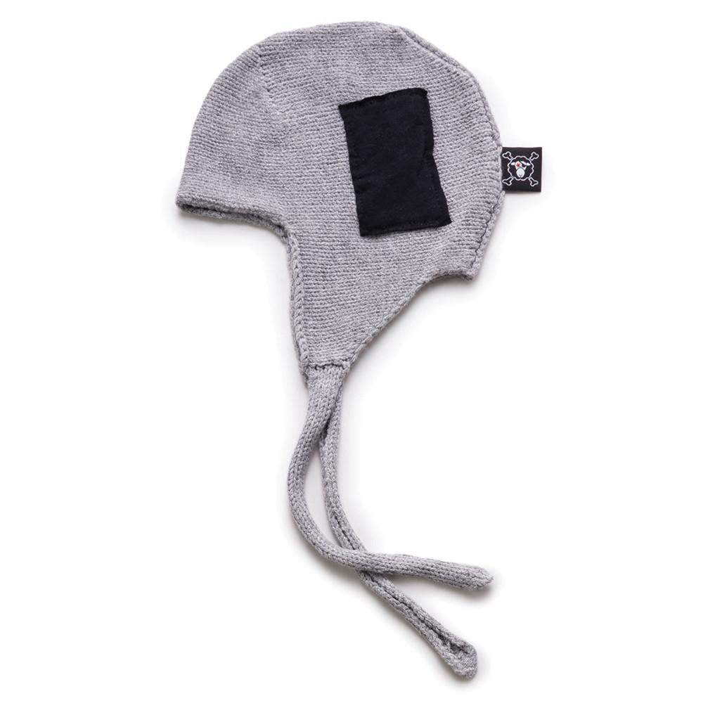 NUNUNU Grey Knitted Patch Hat Afterpay