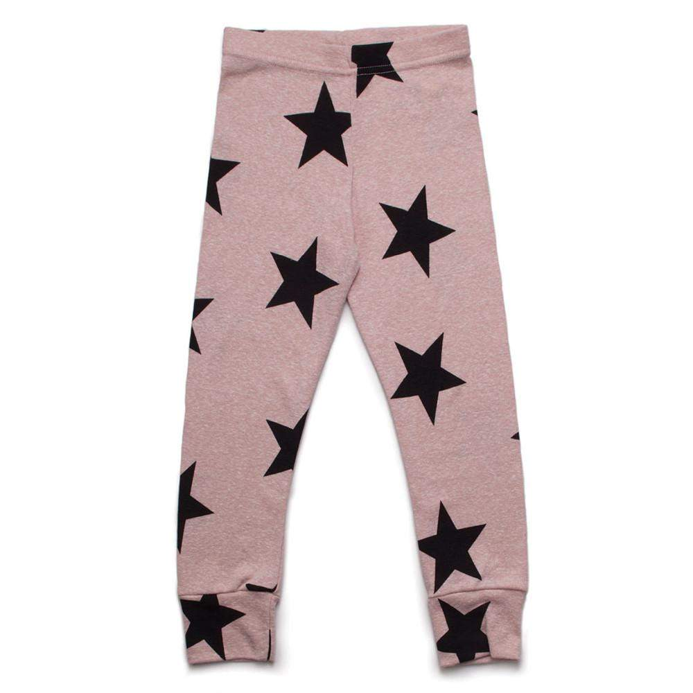 NUNUNU Powder Pink Star Leggings Afterpay