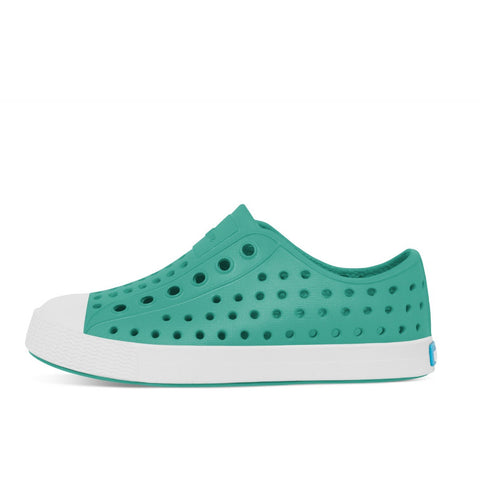 Native Shoes Kids Jefferson | Pool Blue / Shell White Afterpay