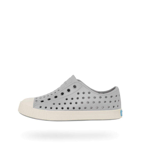 Native Shoes Kids Jefferson | Pigeon Grey / Bone White