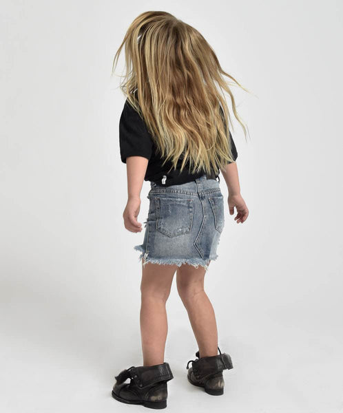 OneTeaspoon Kids 2020 High Waist Denim Skirt | Size 7-8Y Last One