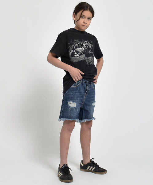 OneTeaspoon Kids Mr Blacks Denim Short