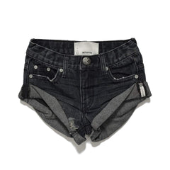 OneTeaspoon Kids Bandits Denim Short Fox Black