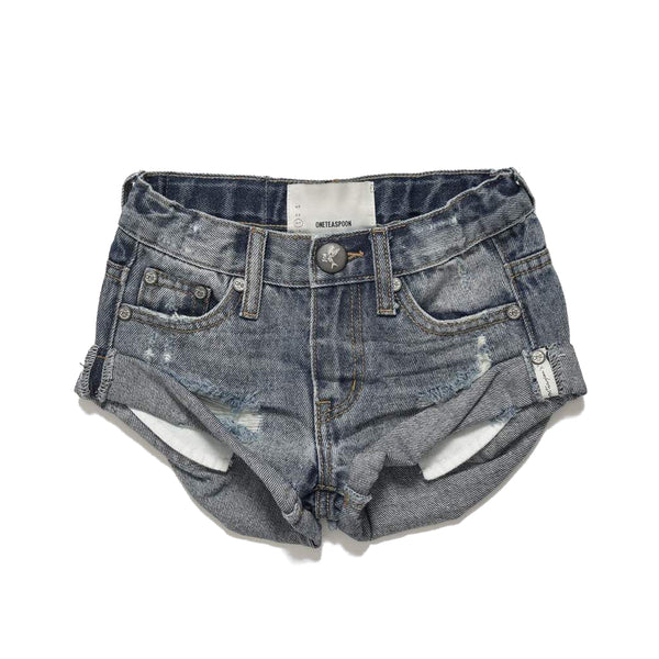 OneTeaspoon Kids Bandits Denim Short Storm Buoy