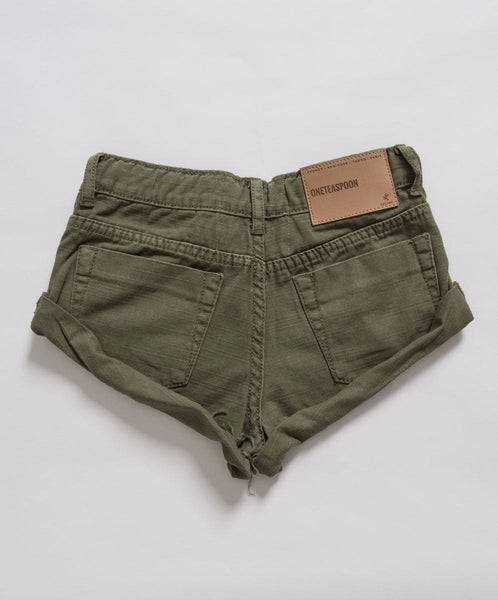 OneTeaspoon Kids Militaire Bandits Denim Short Cool Kids Clothes