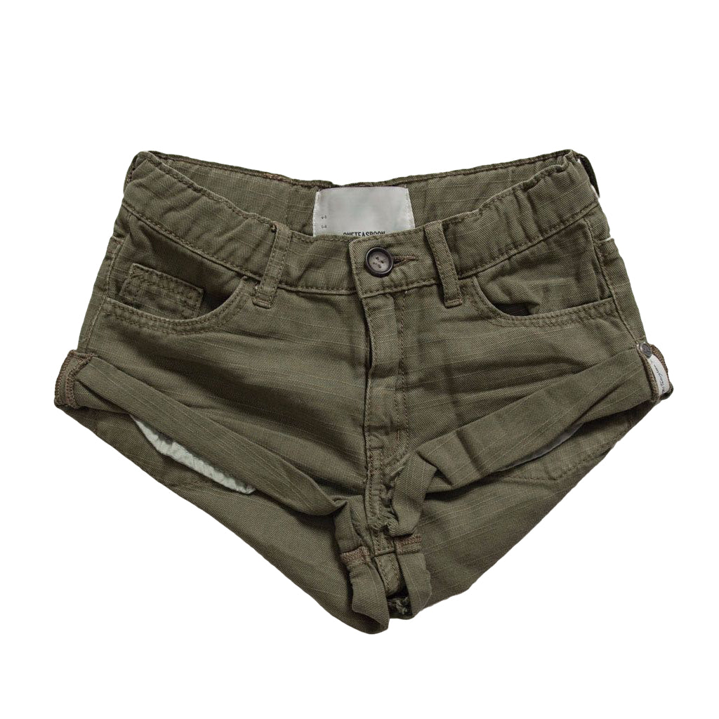 OneTeaspoon Kids Militaire Bandits Denim Short
