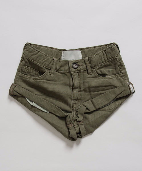 OneTeaspoon Kids Militaire Bandits Denim Short Designer Clothes