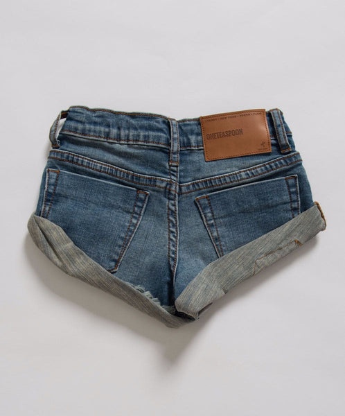 One Teaspoon Kids Superstar Blue Bandits Denim Short Afterpay