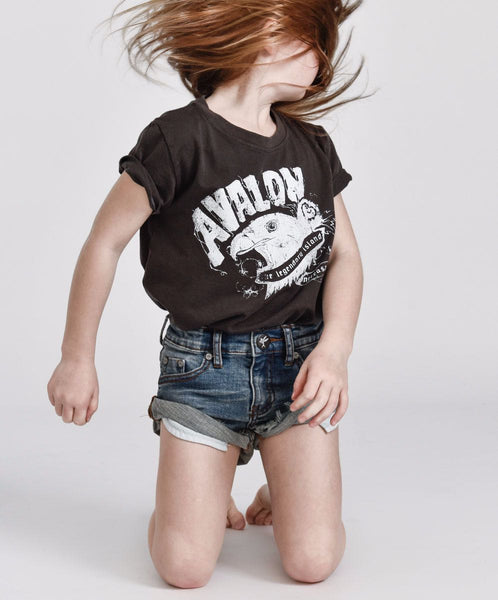 One Teaspoon Kids Superstar Blue Bandits Denim Short
