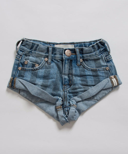OneTeaspoon Kids Zephyr Stripe Bandits Denim Girls Short