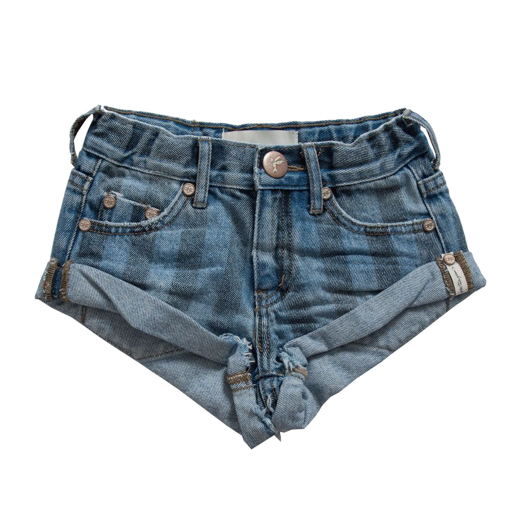 OneTeaspoon Kids Zephyr Stripe Bandits Denim Short