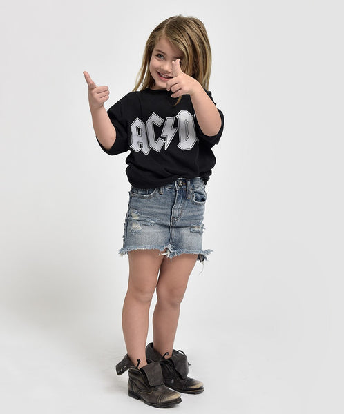 OneTeaspoon Kids 2020 High Waist Denim Skirt