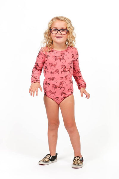 Rock Your Baby All The Pretty Horses Leotard Afterpay Cool Kids Clothes For Girls