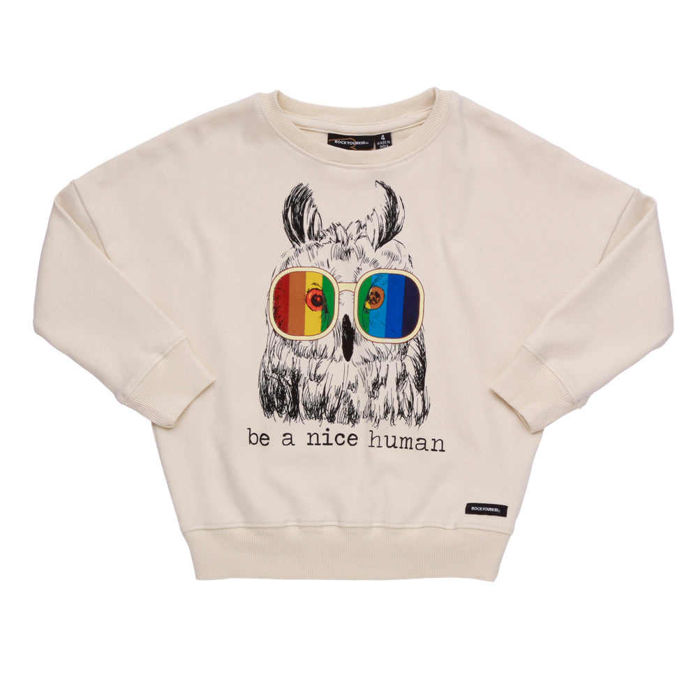 6829759ceaa51b Rock Your Kid Be A Nice Human Jumper Afterpay Cool Kids Clothes