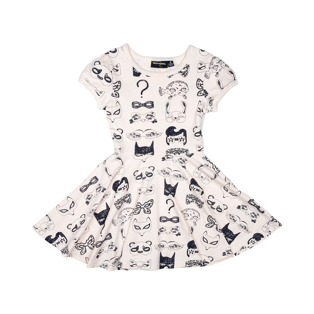 Rock Your Kid Black & White Ball Waisted Dress Afterpay
