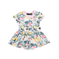 Rock Your Baby A Rose Is A Rose Waisted Dress | Size 3-6M Last One