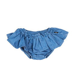 Rock Your Baby Chambray Ruffle Skirt | Last Two