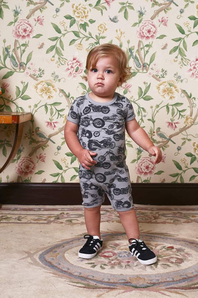 Rock Your Baby Chopper SS Playsuit Afterpay