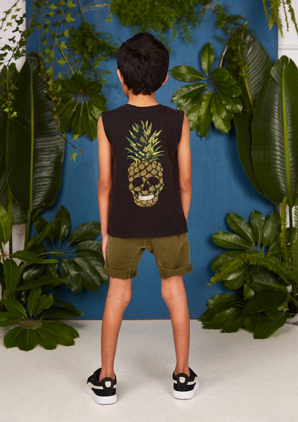 Rock Your Kid Pineapple Skull Muscle Top