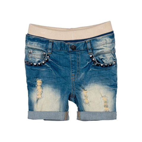 Rock Your Kid Heavy Metal Denim Shorts