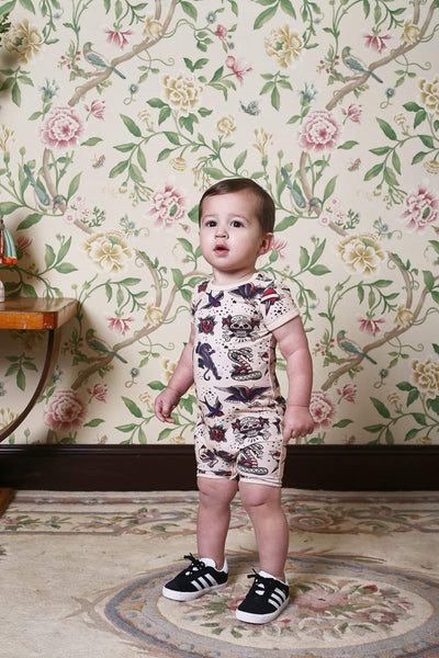 Rock Your Baby Tattoo You SS Playsuit Afterpay