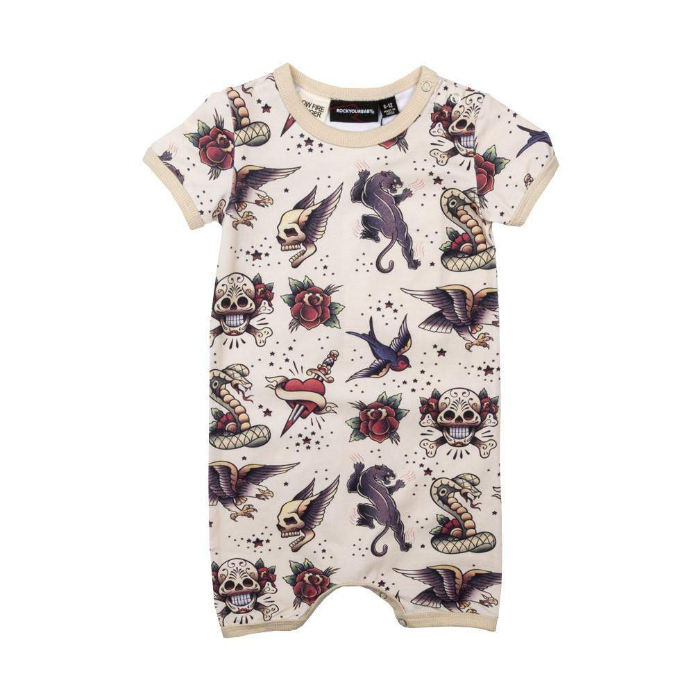 Rock Your Baby Tattoo You SS Playsuit