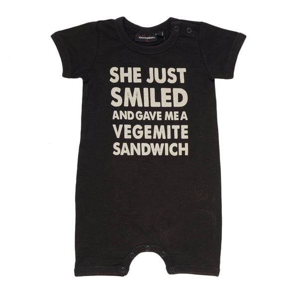 Rock Your Baby Vegemite Sandwich Playsuit