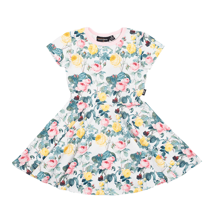 Rock Your Kid A Rose Is A Rose Waisted Dress