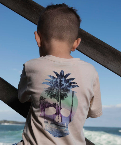 Rock Your Kid Tropical Skull Tee