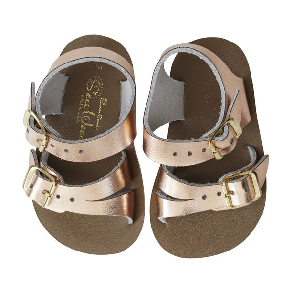 Saltwater Sandals Sun-San Sea Wee | Rose Gold Afterpay