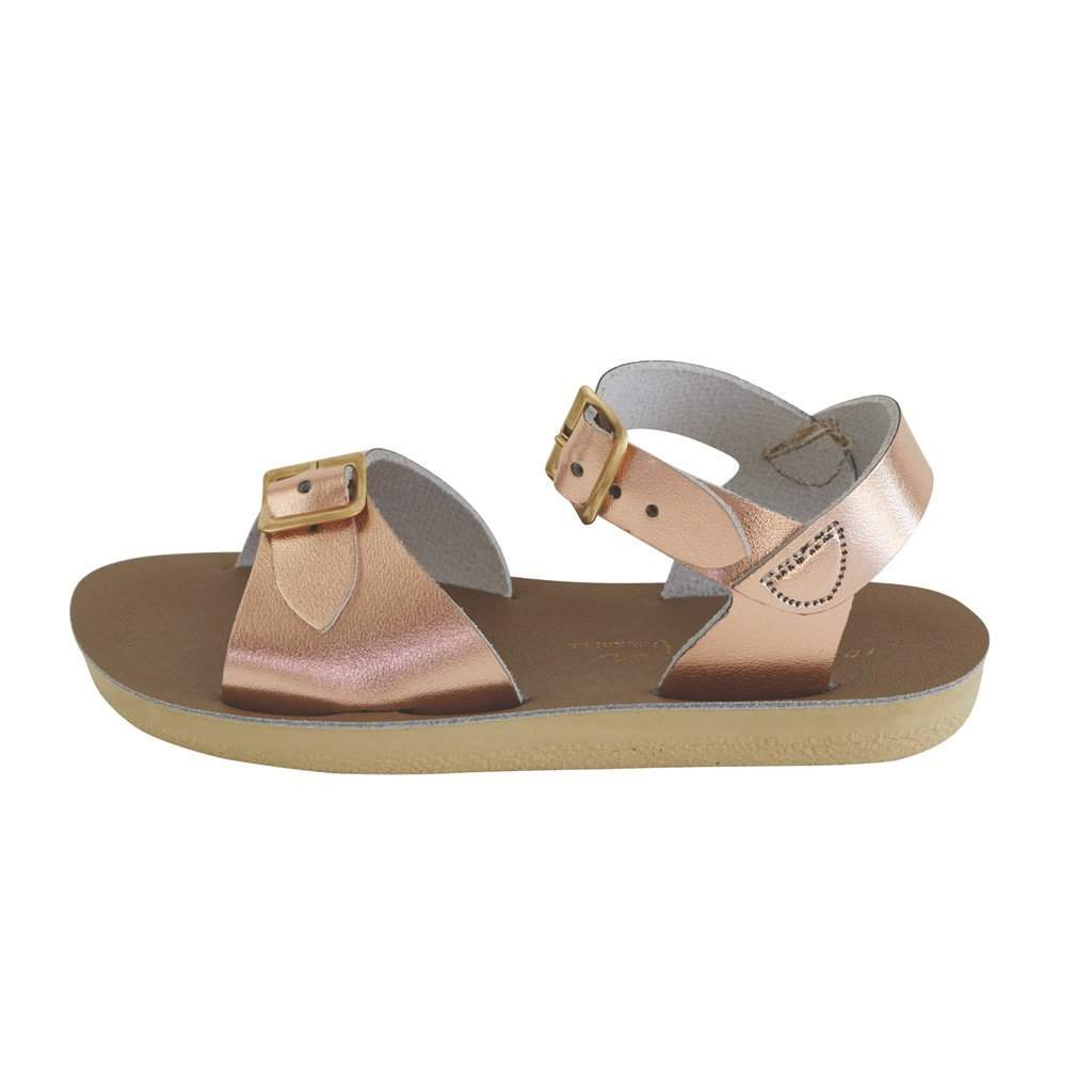 Saltwater Sandals Sun-San Surfer | Rose Gold Afterpay