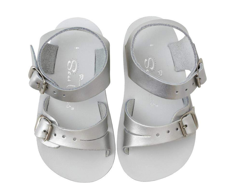 Saltwater Sandals Sun-San Sea Wee | Silver Afterpay