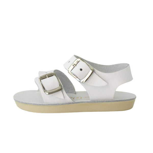 Saltwater Sandals Sun-San Sea Wee | White Afterpay