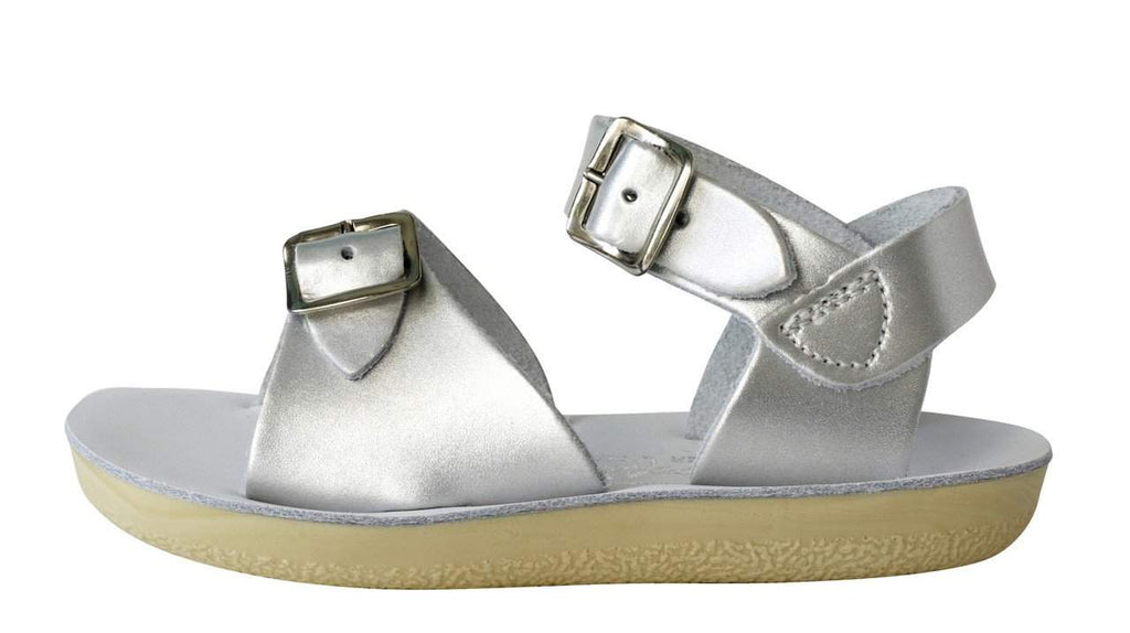 Saltwater Sandals Sun-San Surfer | Silver Afterpay