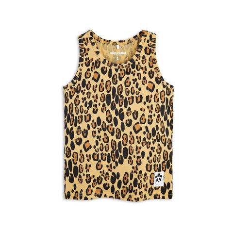 Mini Rodini Basic Leopard Organic Tank | Size 1-4M Last One Afterpay